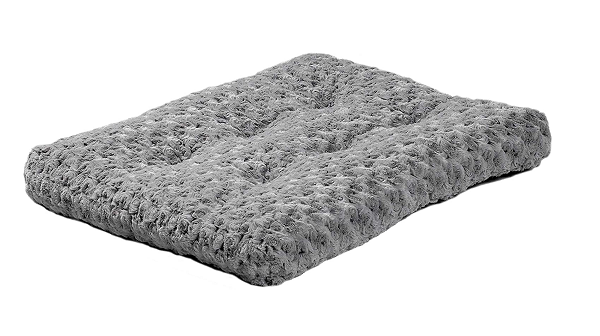 Bed in the shape of a blanket for small dogs