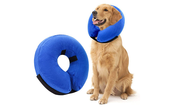 Inflatable and adjustable protective collar