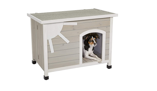Small wooden dog house