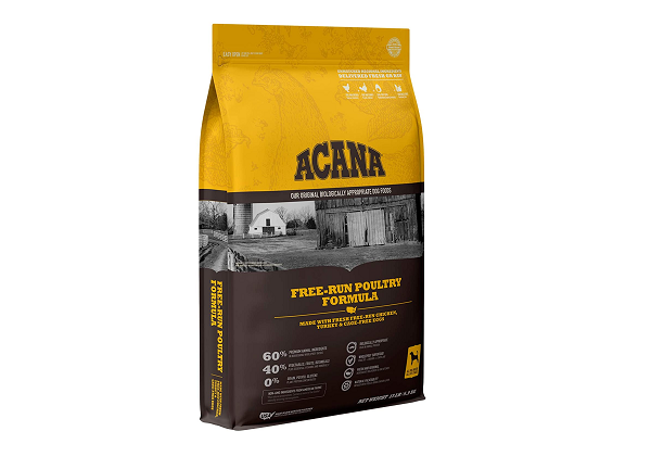Acana organic dry food for adult dogs