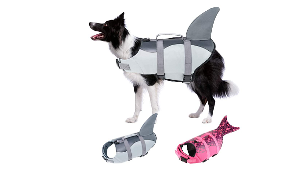 Adjustable flotation vest for dogs