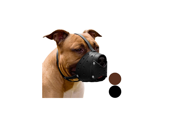 Leather muzzle for small, medium and large dogs