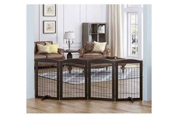 Large expandable black dog gate
