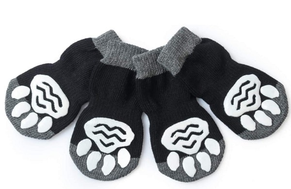 black dog slippers