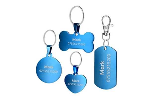 blue id tags