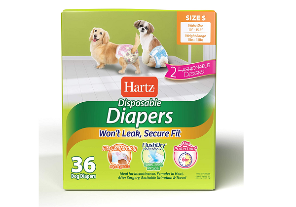 Disposable diaper for dogs